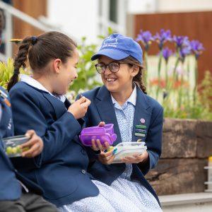 pupils on lunch break