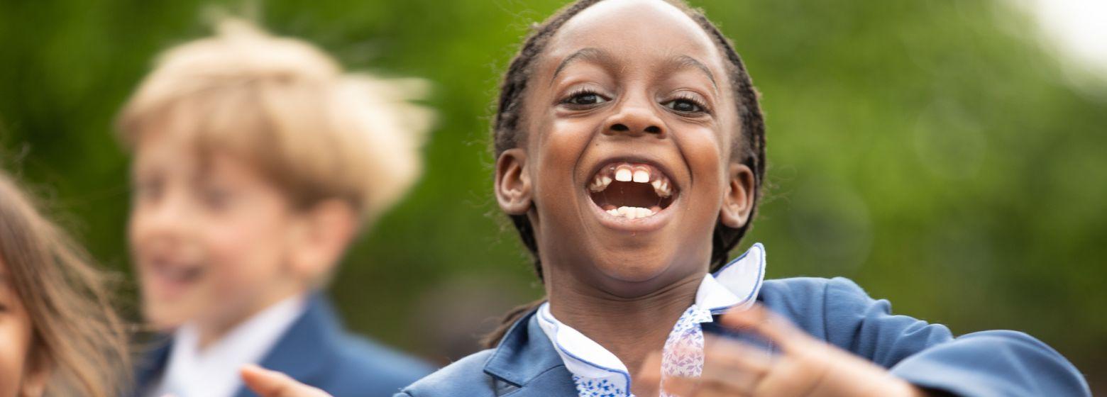 happy pupil at school