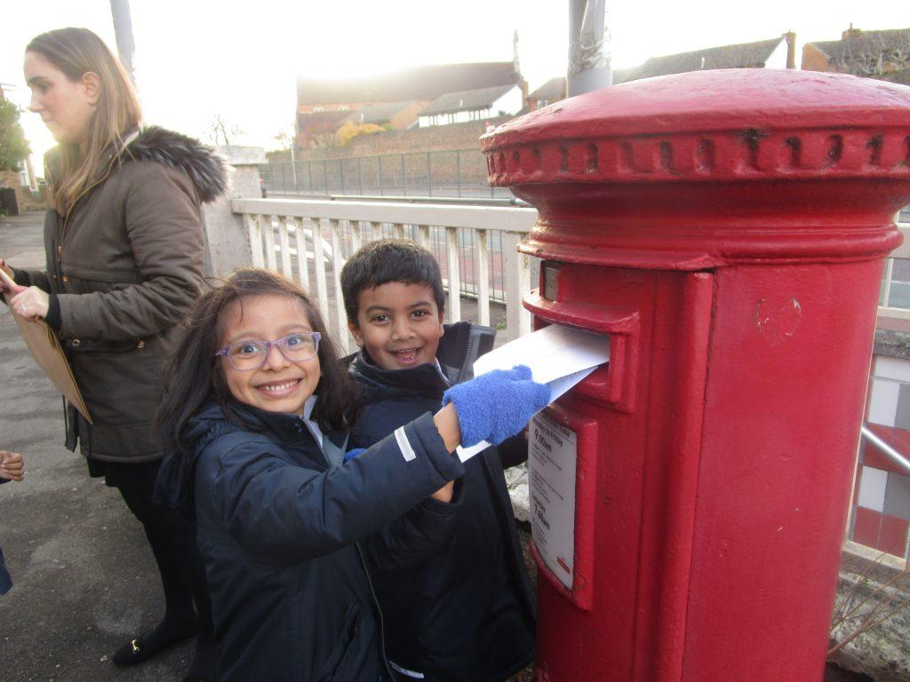 children posting letters