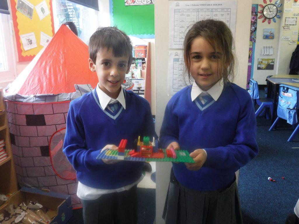 children with lego