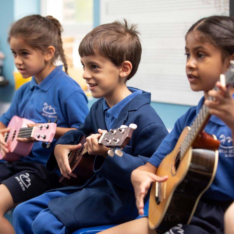 music lesson at Avon House School